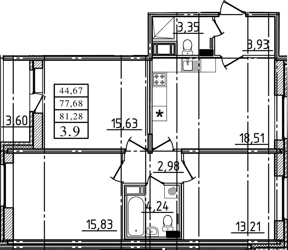 4-к.кв (евро), 81.28 м²