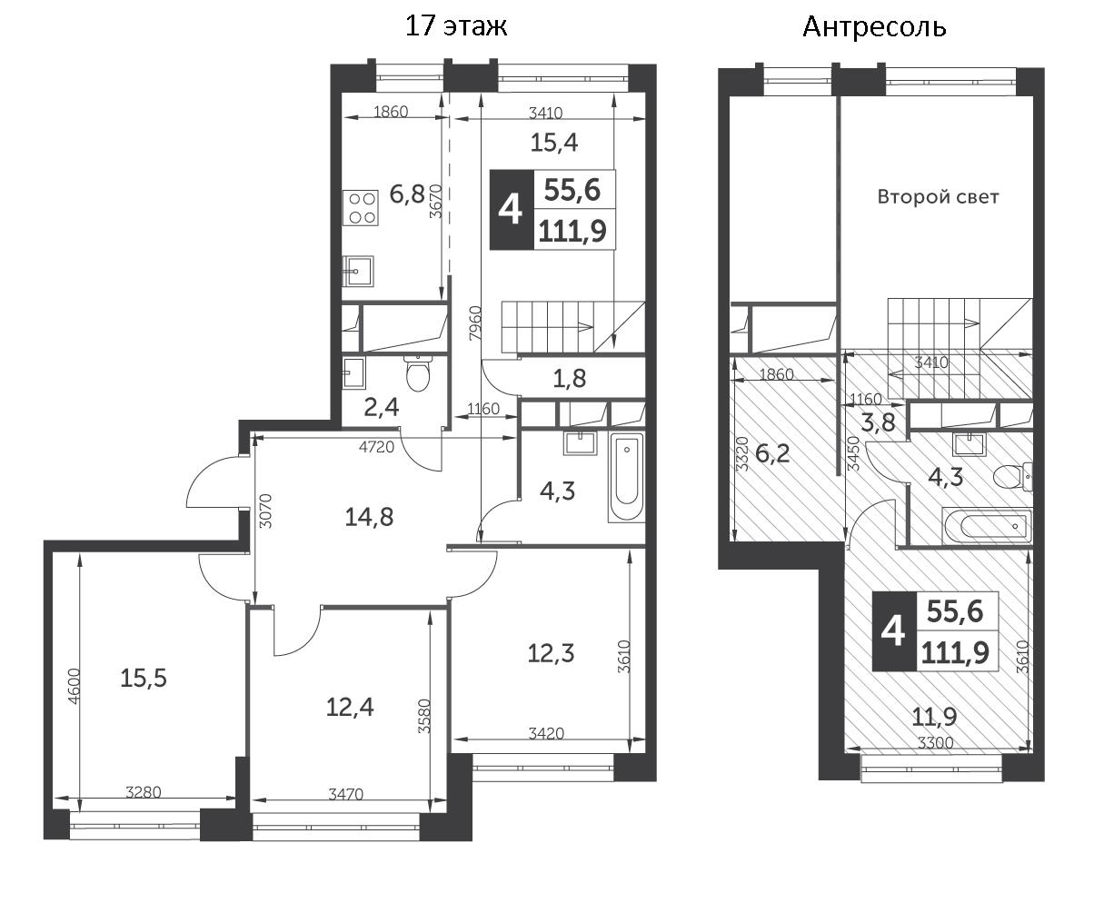5-к.кв (евро), 111.9 м²