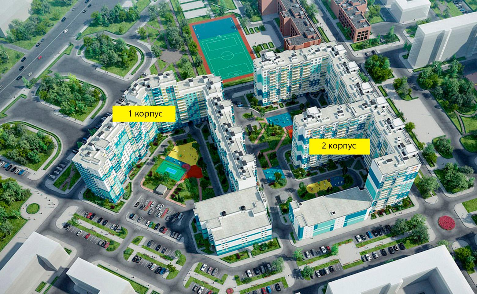 План жилого комплекса ЖК Ландыши