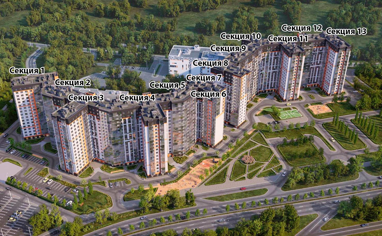 План жилого комплекса ЖК Дом на Блюхера