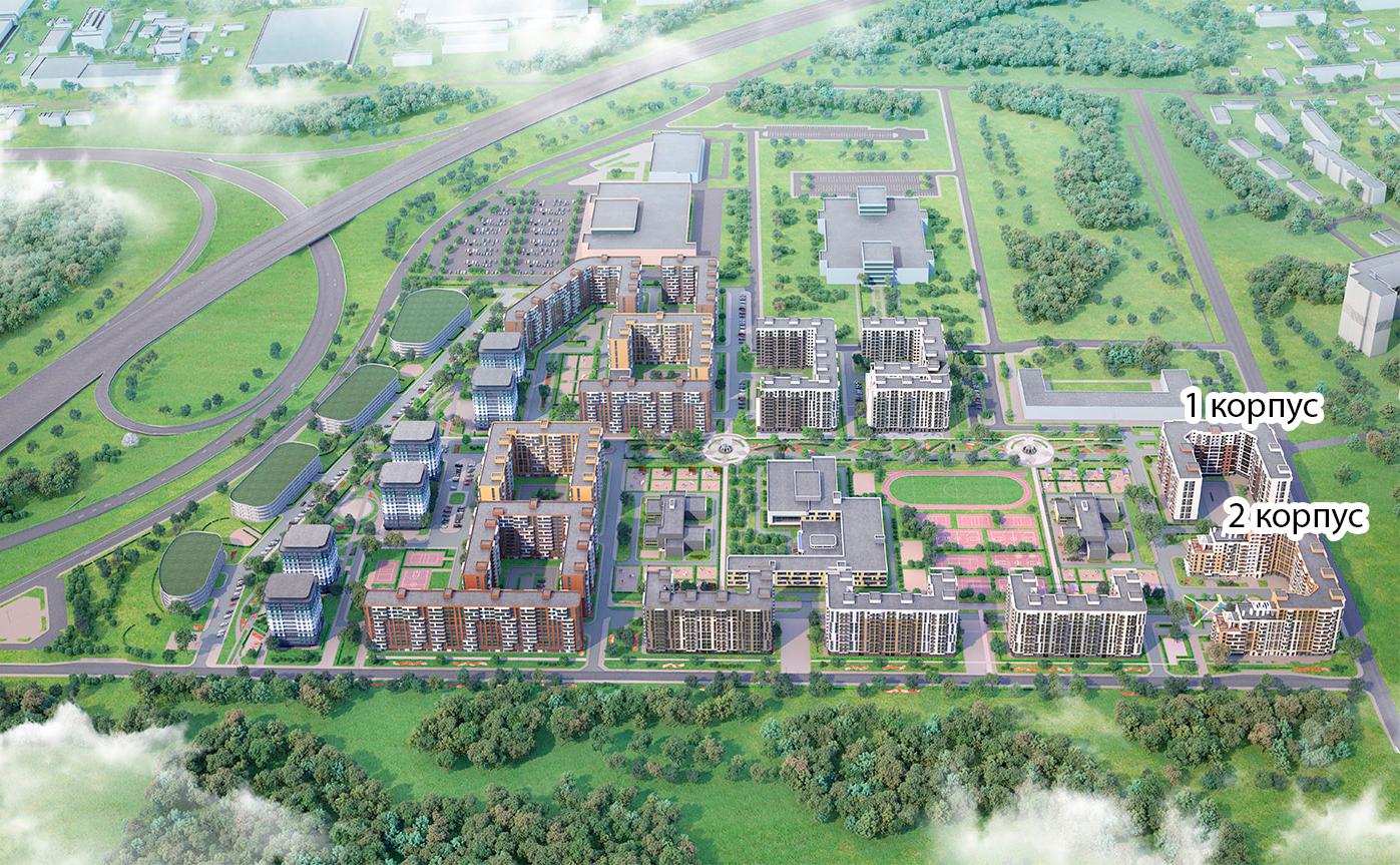 План жилого комплекса ЖК Энфилд