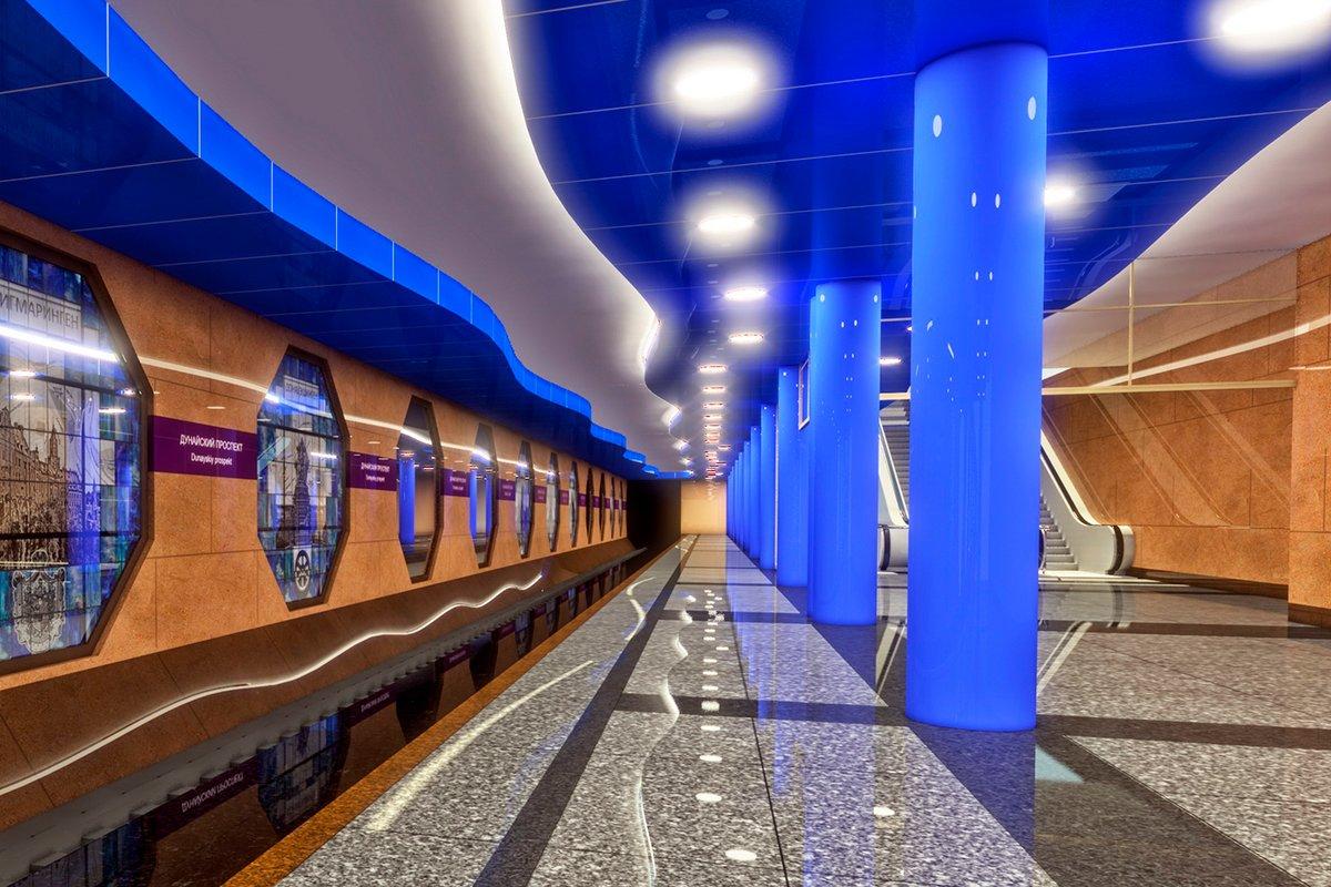 Новые станции метро Петербурга