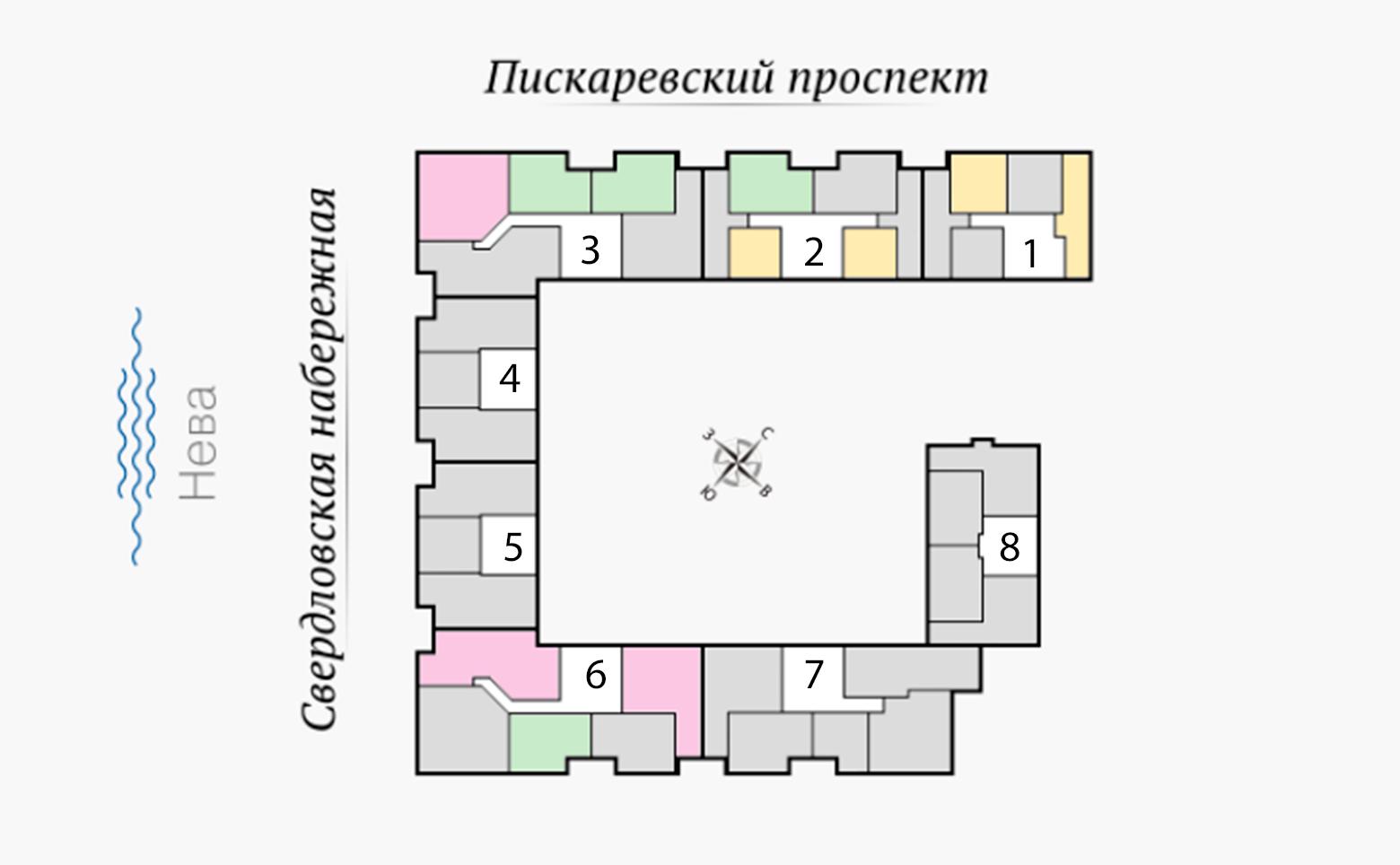 План жилого комплекса ЖК Четыре горизонта
