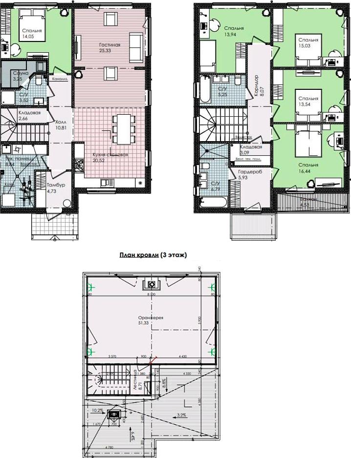 4-комнатная 256 м<sup>2</sup> на 1 этаже