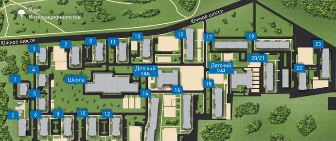 План жилого комплекса ЖК София
