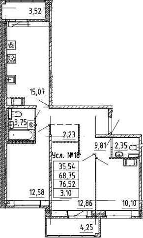4-к.кв (евро), 76.52 м²
