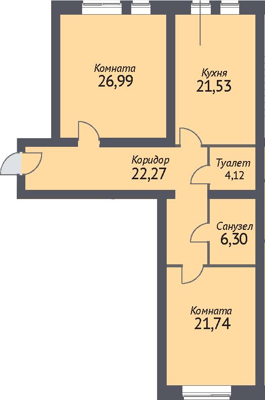 2-к.кв, 100.2 м²
