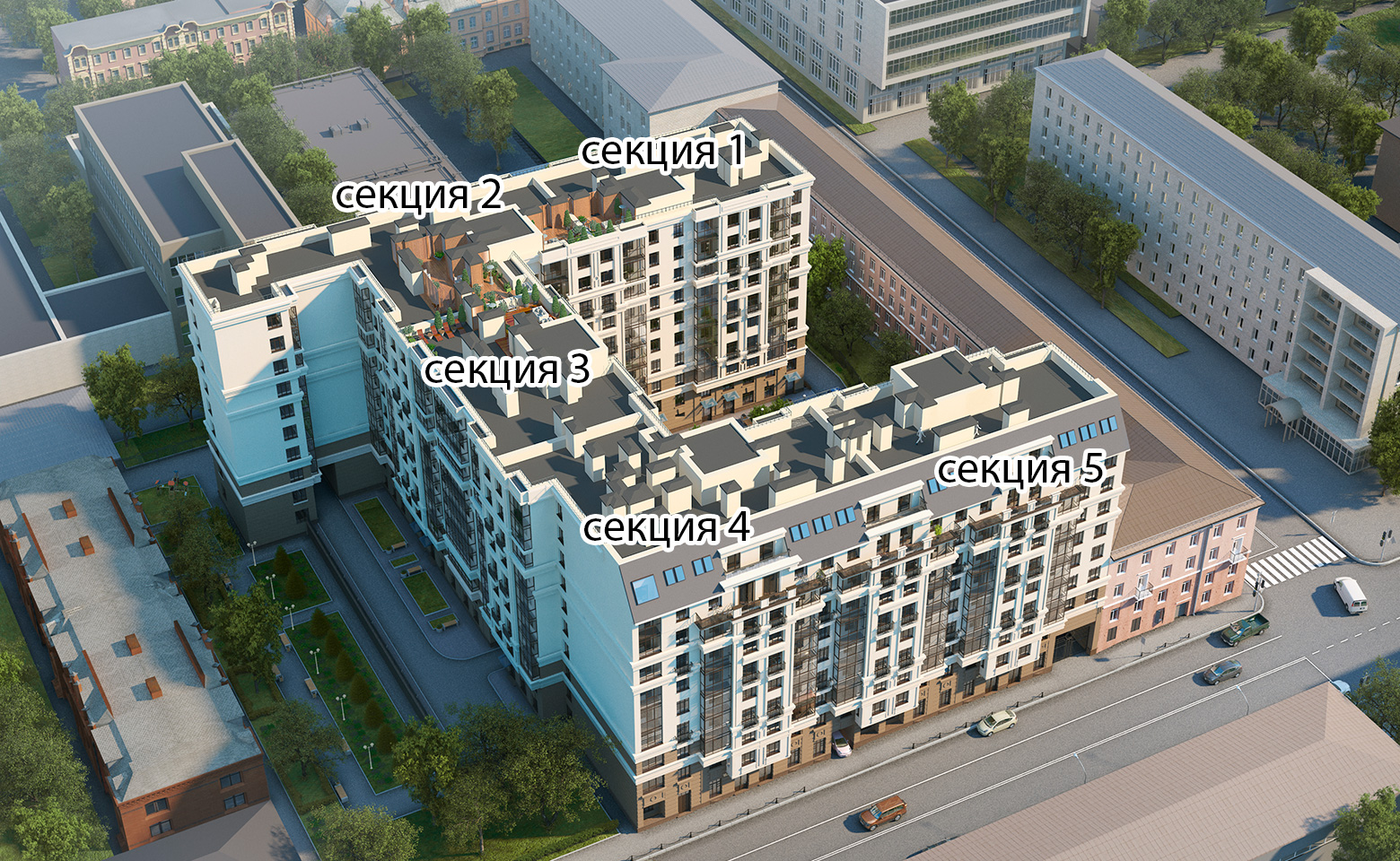 План жилого комплекса ЖК Дом у Каретного