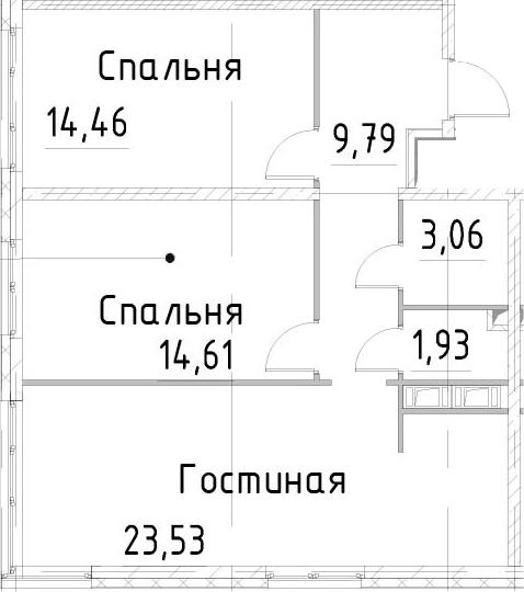 3-к.кв, 67.38 м²
