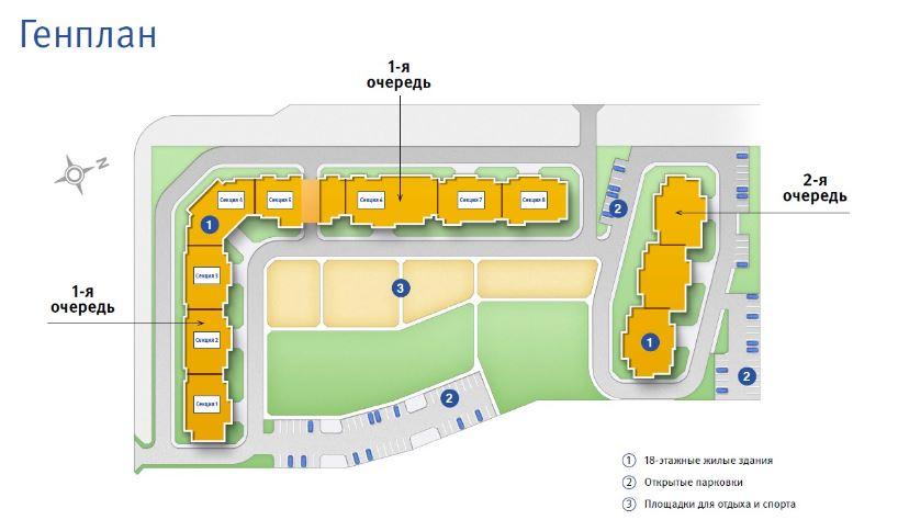 План жилого комплекса ЖК Десяткино