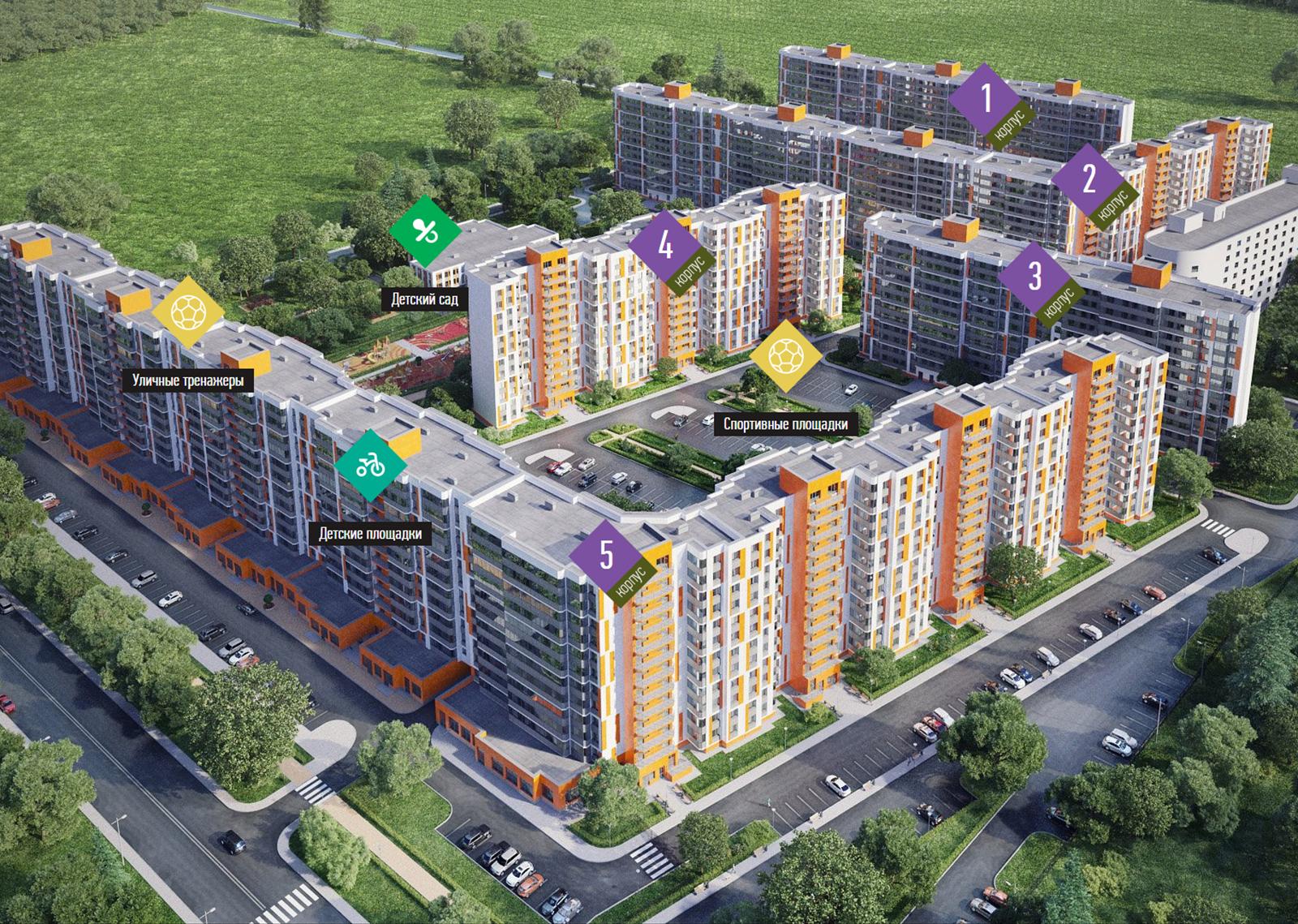 План жилого комплекса ЖК Светлановский