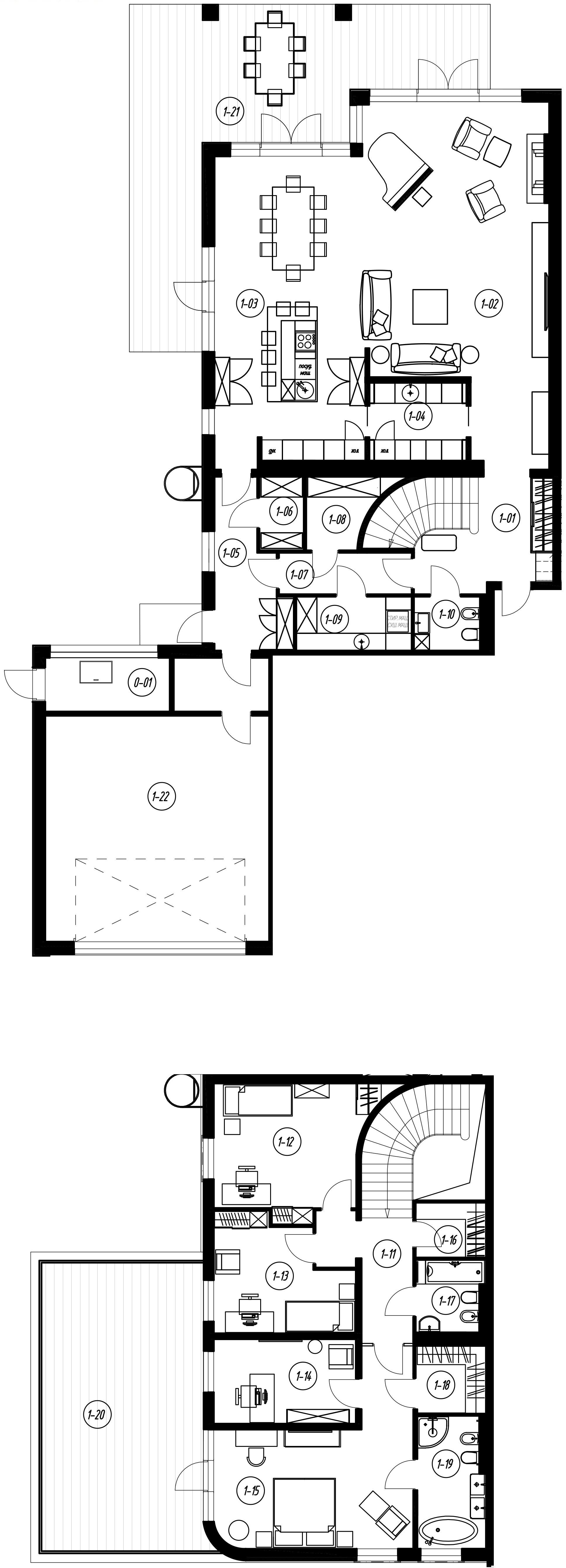 4-комнатная 359 м<sup>2</sup> на 1 этаже