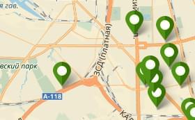 Новостройки на карте Санкт-Петербурга