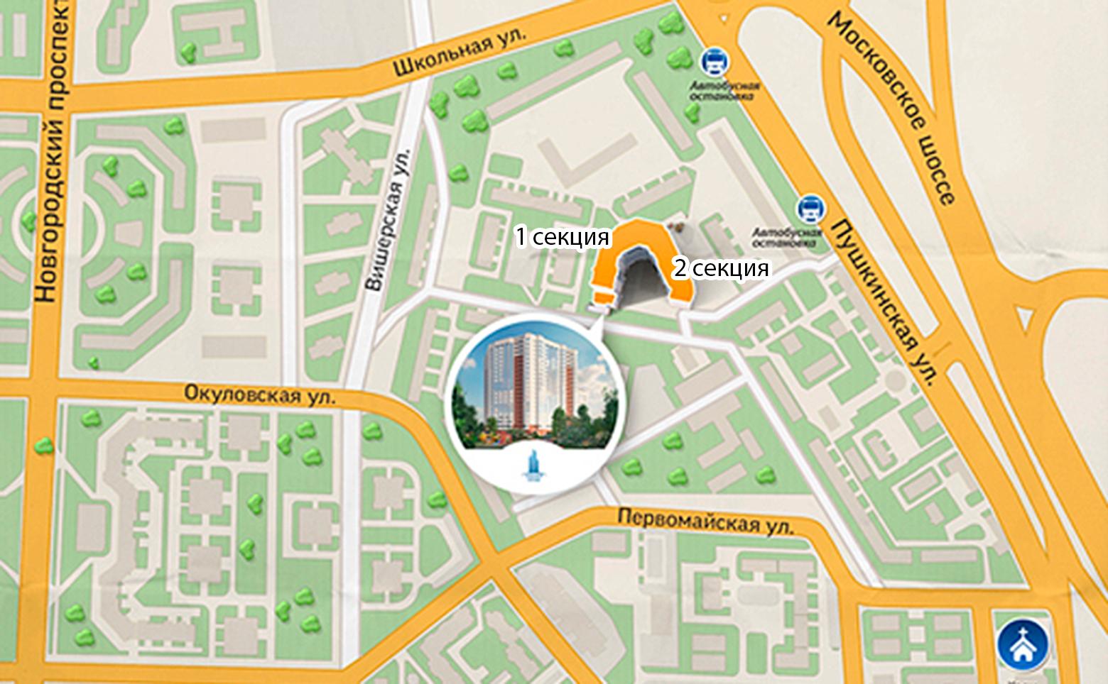 План жилого комплекса ЖК Босфор