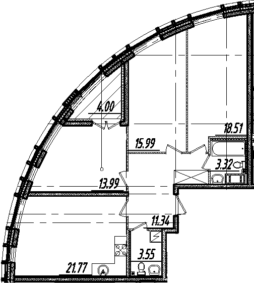 4-комнатная 92 м<sup>2</sup> на 10 этаже
