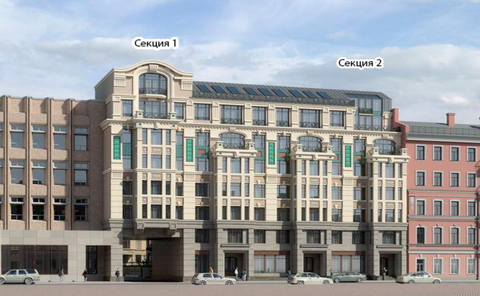 План жилого комплекса ЖК Дом на Дворянской