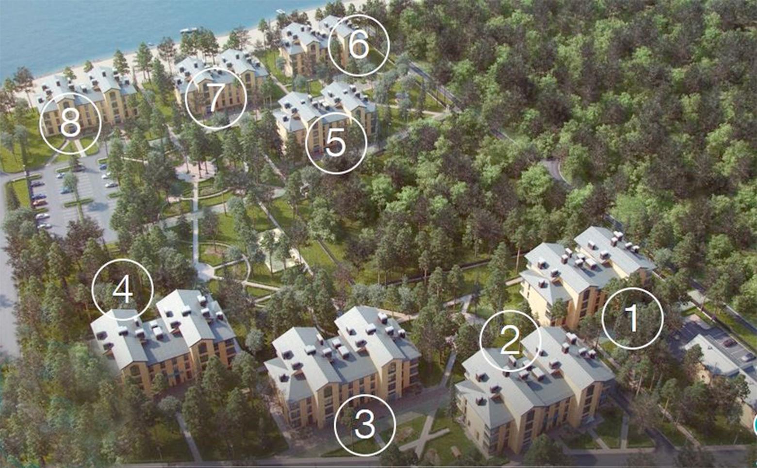 План жилого комплекса ЖК Первая Линия