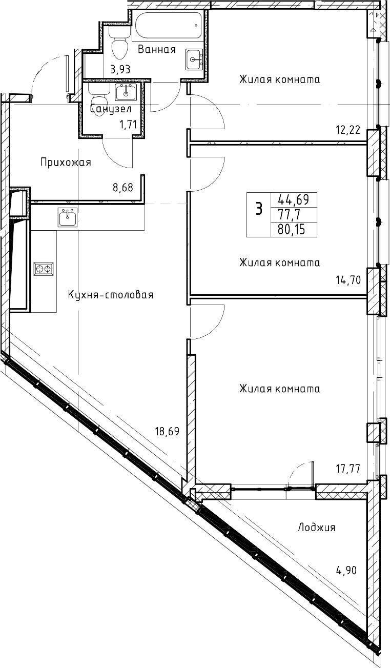 4-к.кв (евро), 82.6 м²