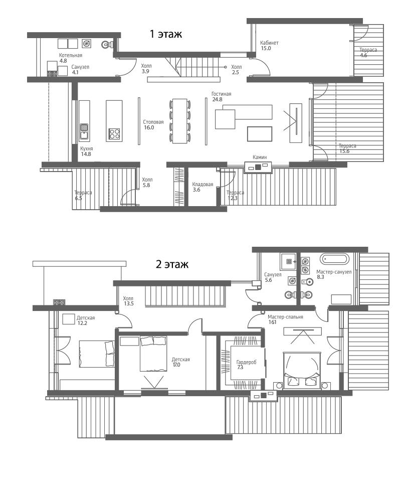 Коттеджи, 214.3 м²