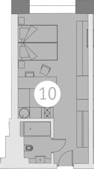 Студия, 26.85 м²