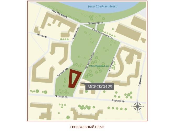 План жилого комплекса ЖК Verona