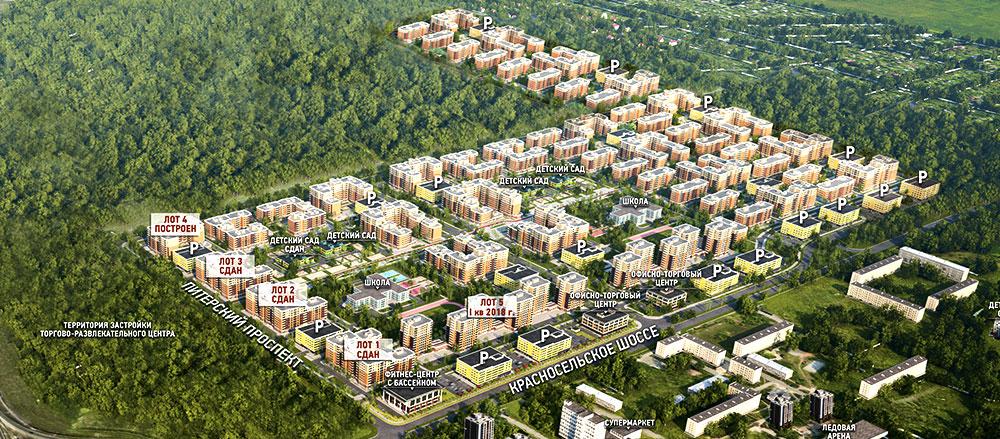 План жилого комплекса ЖК Питерский пр-т, д. 11
