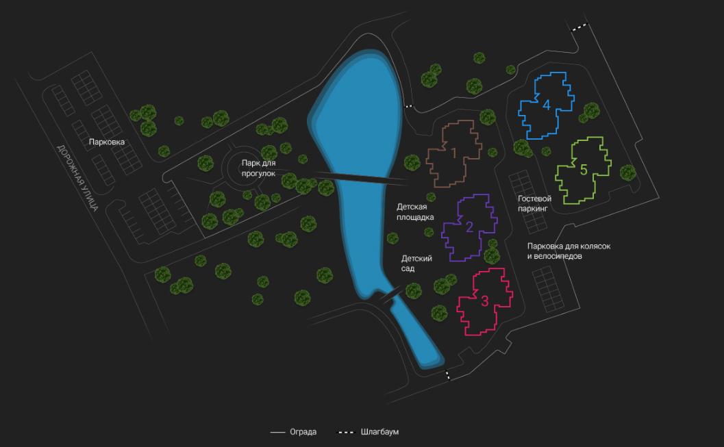 План жилого комплекса ЖК Ассорти