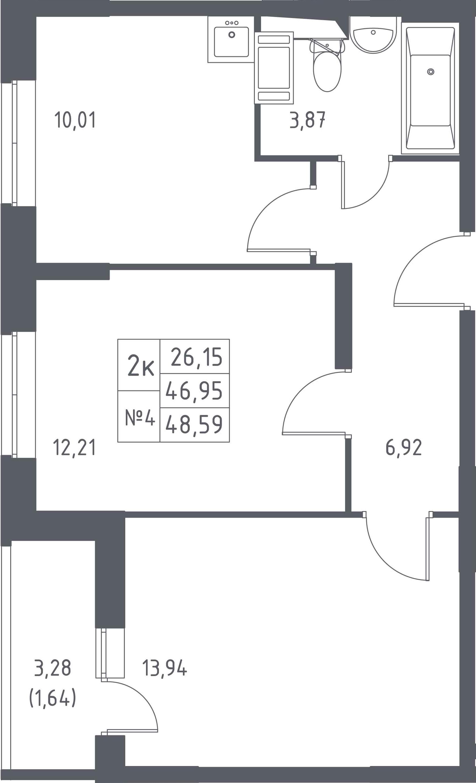 3-к.кв (евро), 50.23 м²