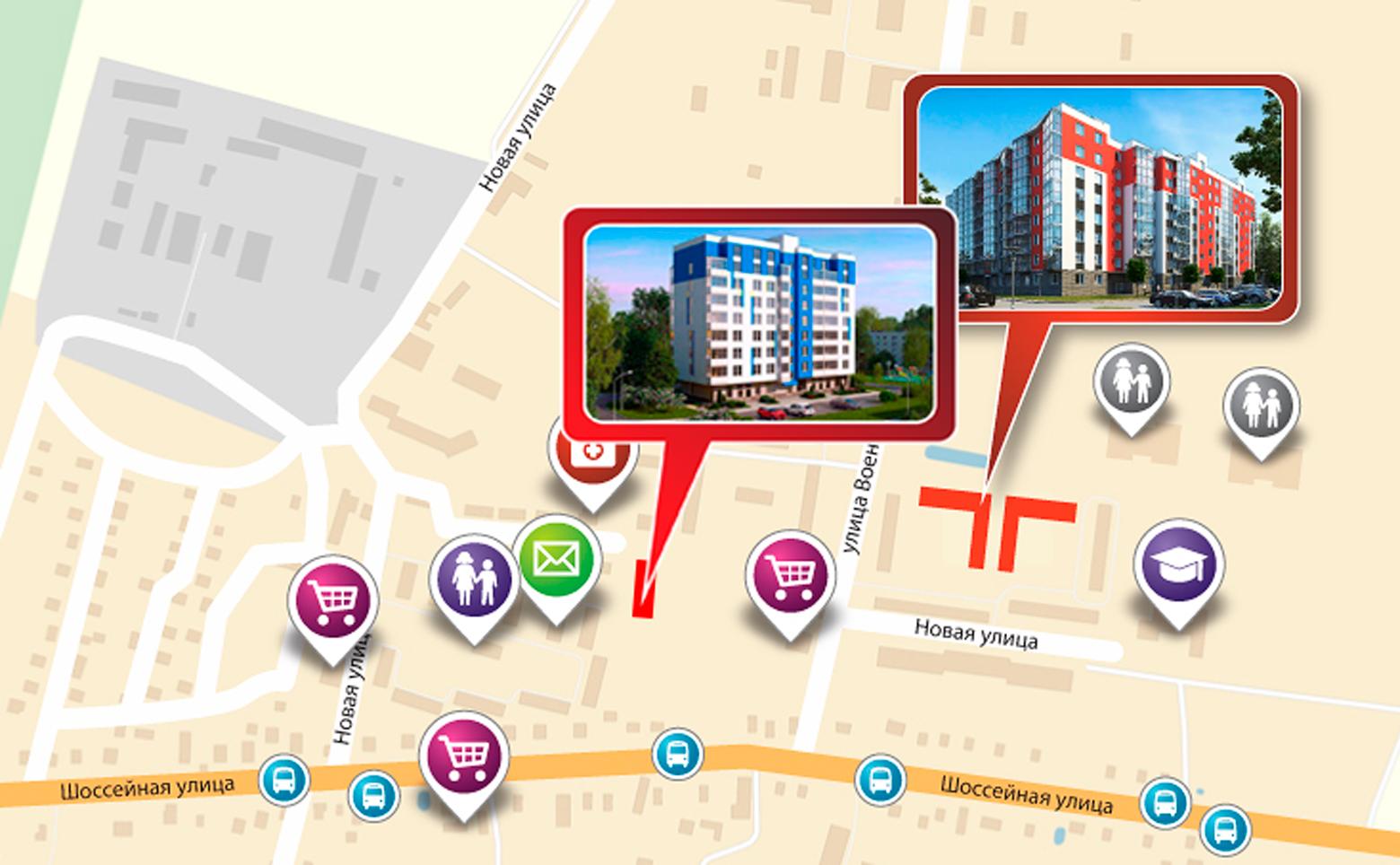 План жилого комплекса ЖК Брусничный