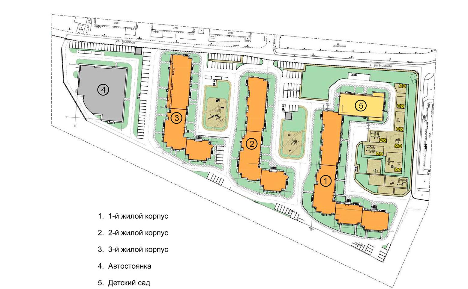 План жилого комплекса ЖК Ювента