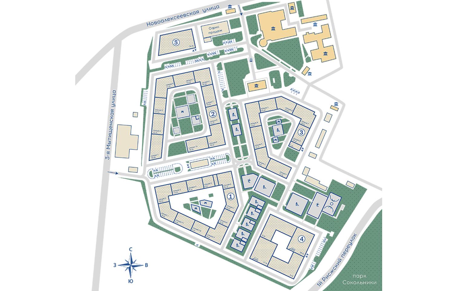План жилого комплекса ЖК Серебряный фонтан
