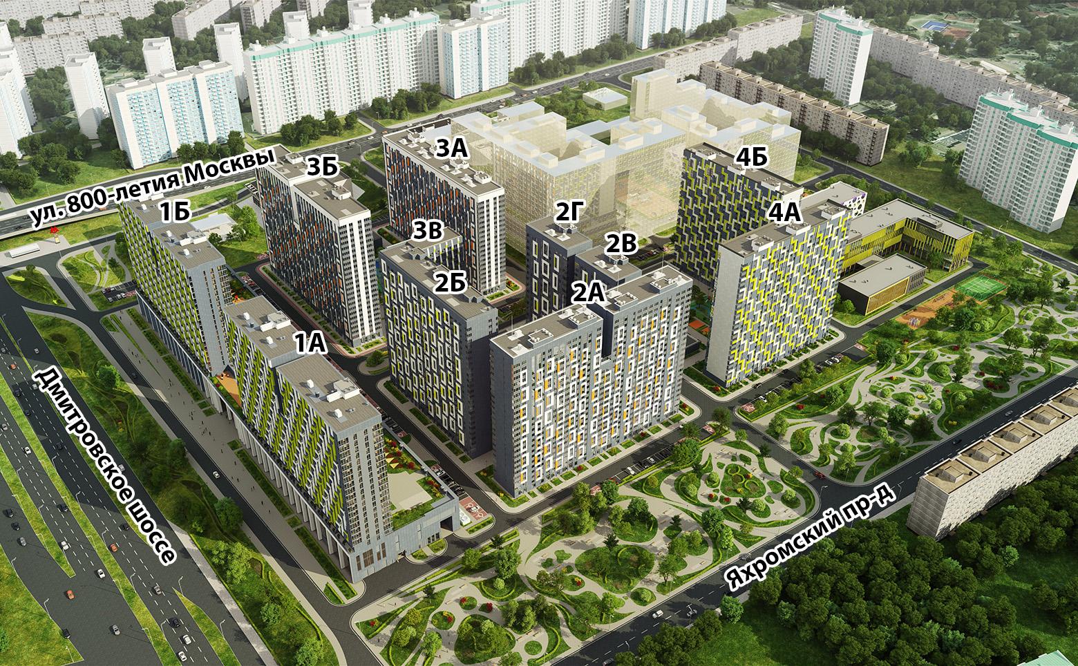 План жилого комплекса ЖК Летний сад