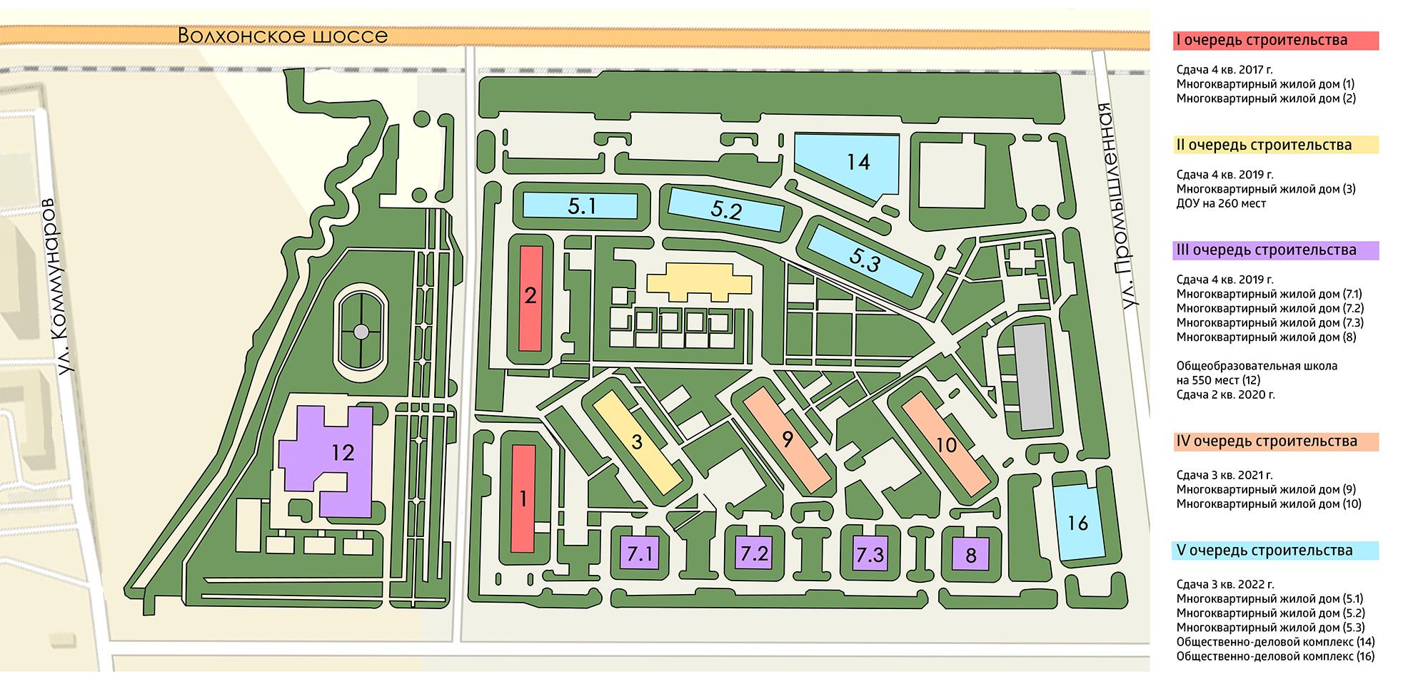 План жилого комплекса ЖК Ветер перемен
