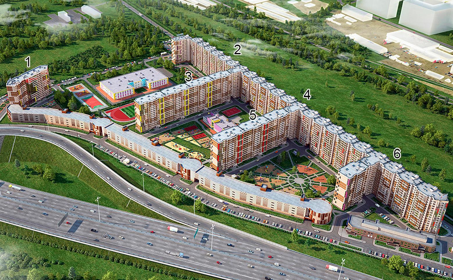 План жилого комплекса ЖК ЦДС Московский