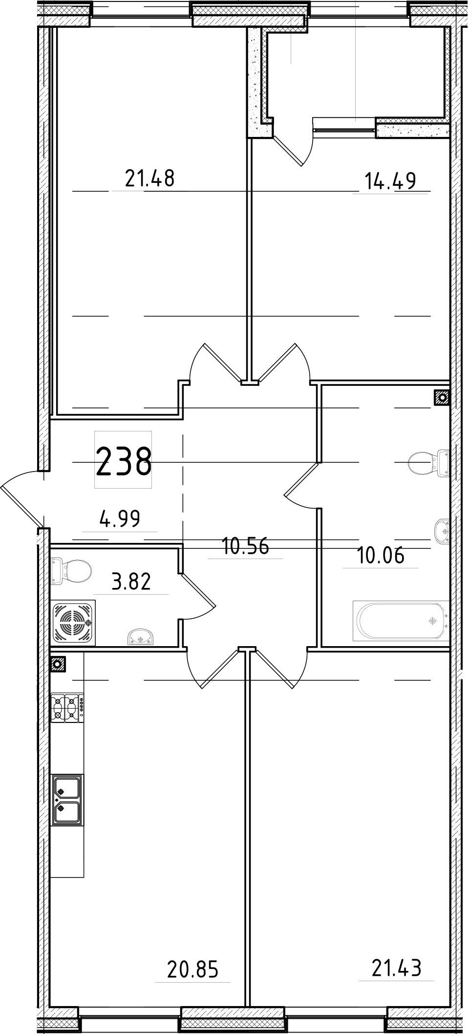 4-к.кв (евро), 112.5 м²