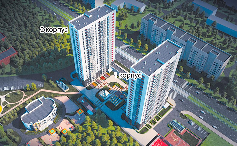 План жилого комплекса ЖК Нью-Тон