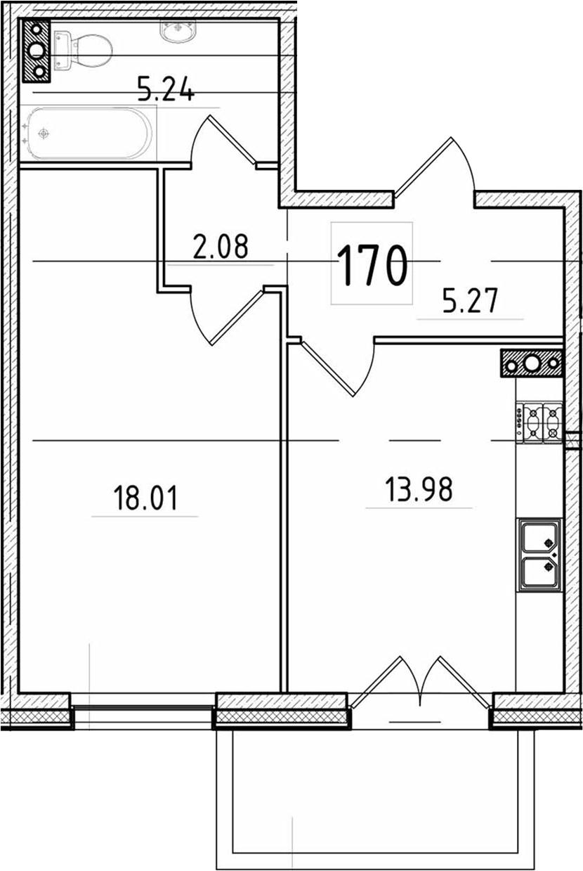 1-к.кв, 49.81 м²