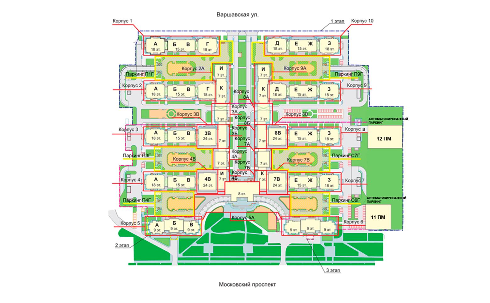 План жилого комплекса ЖК Граф Орлов