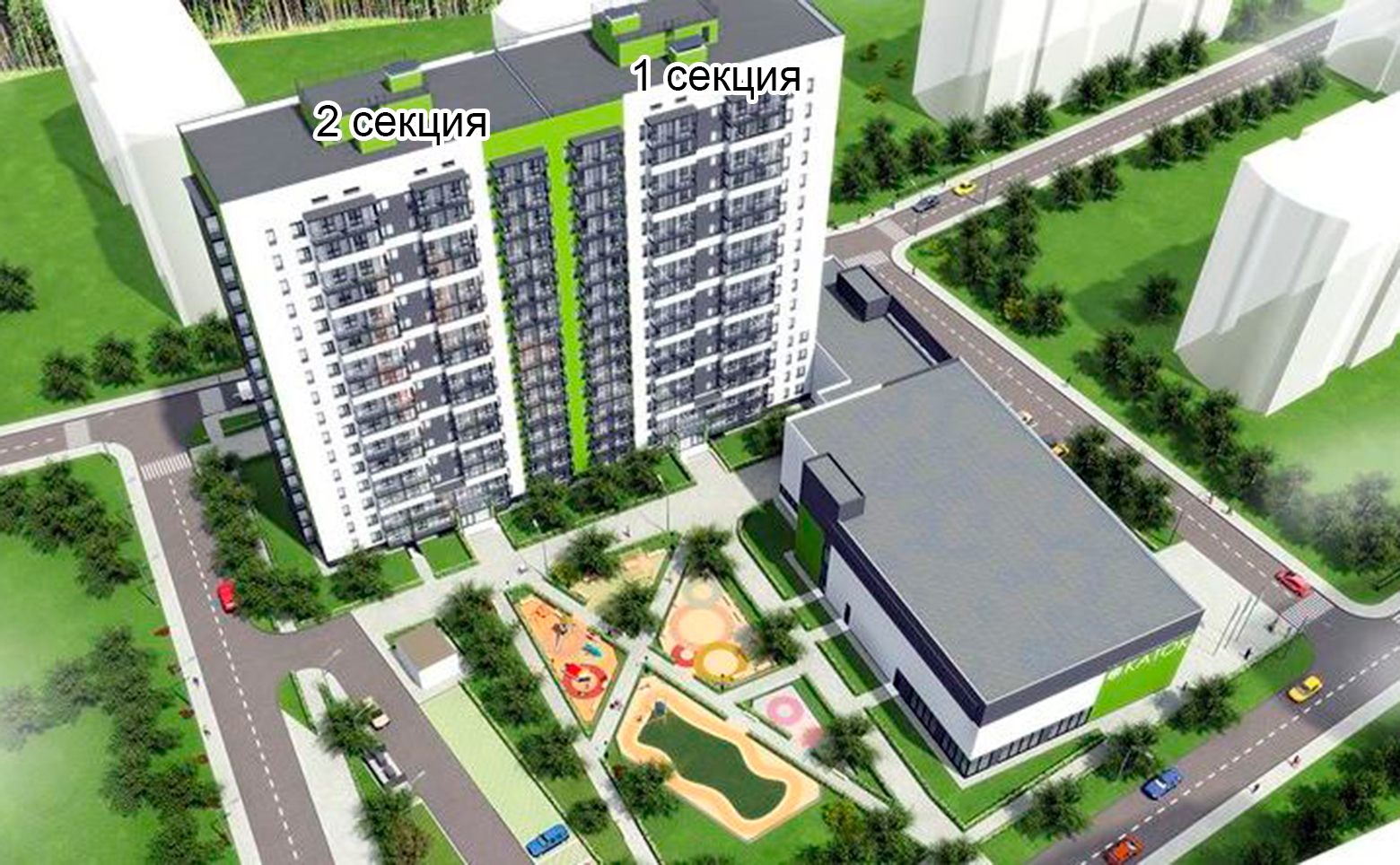 План жилого комплекса ЖК Олимп