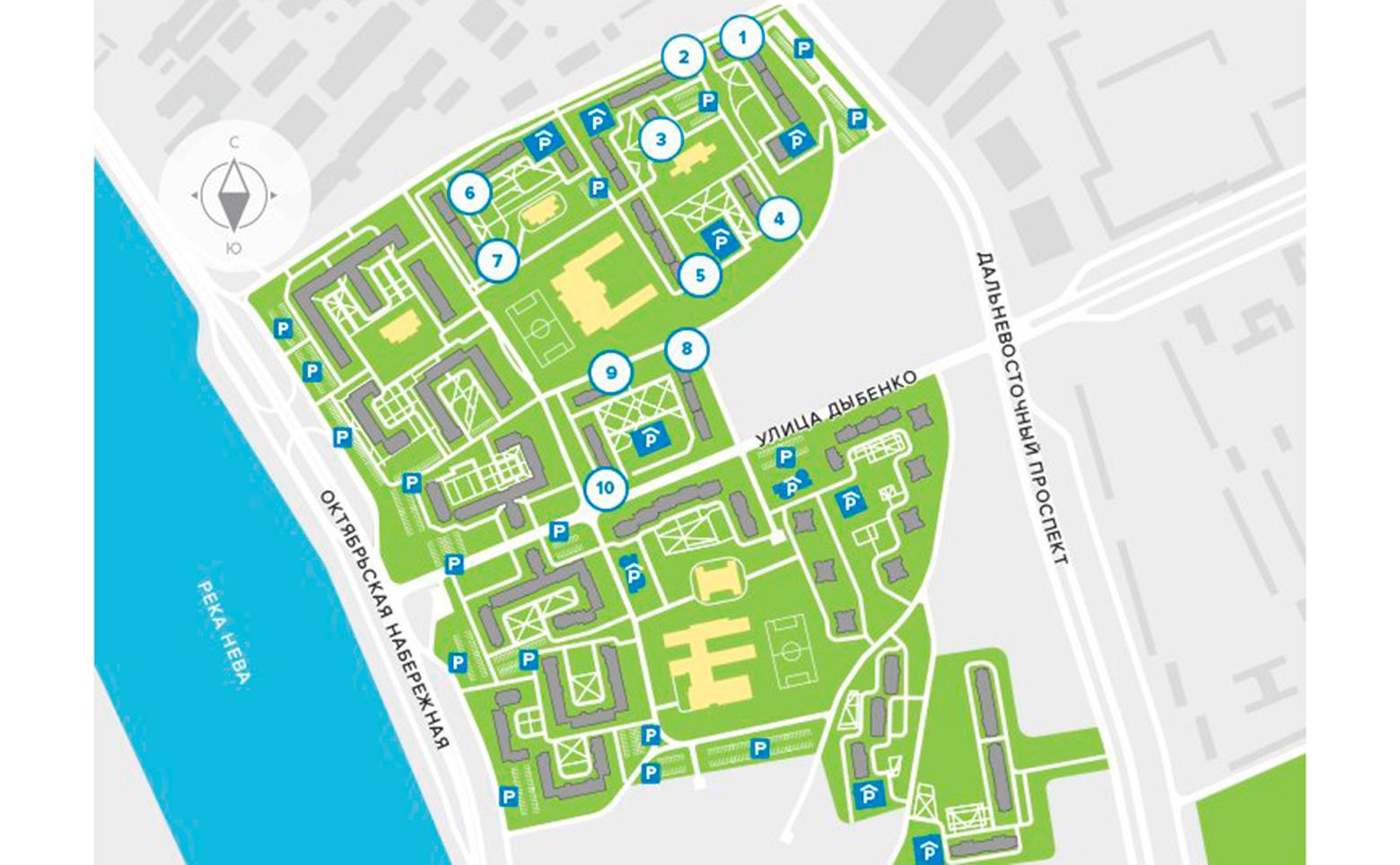 План жилого комплекса ЖК Цивилизация