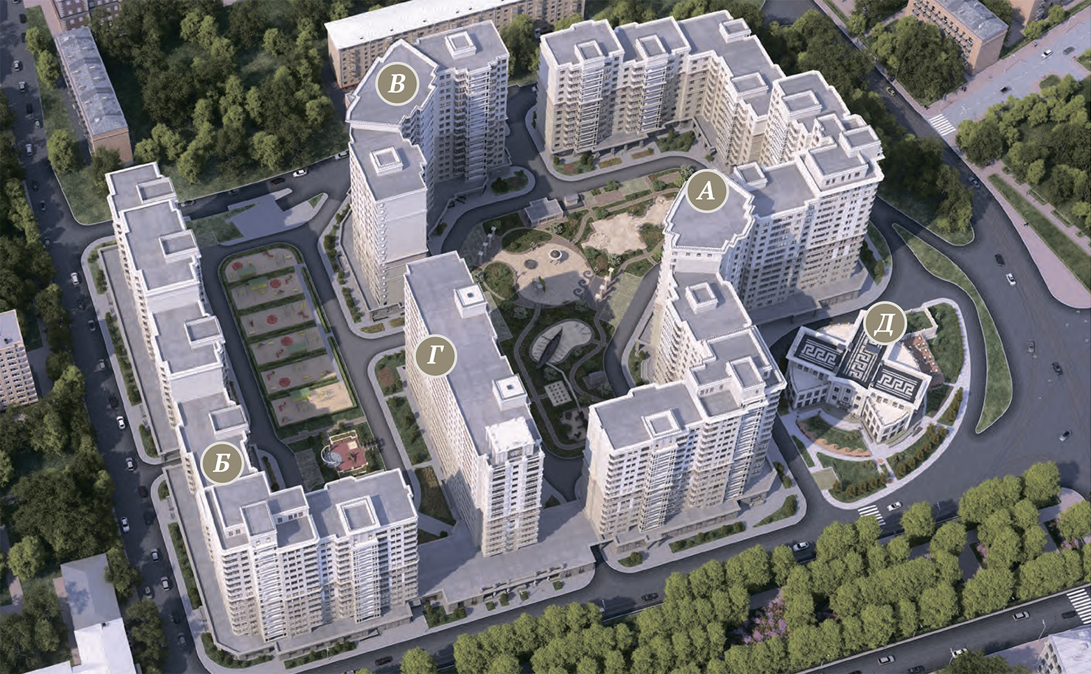 План жилого комплекса ЖК Донской Олимп