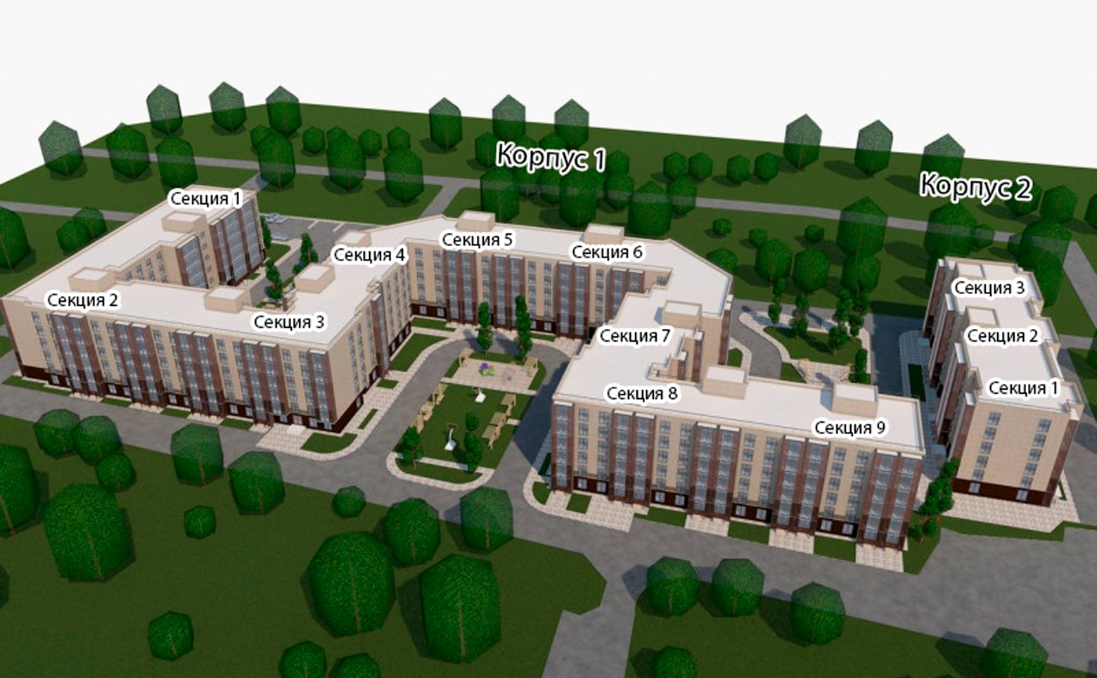 План жилого комплекса ЖК Новые Терийоки