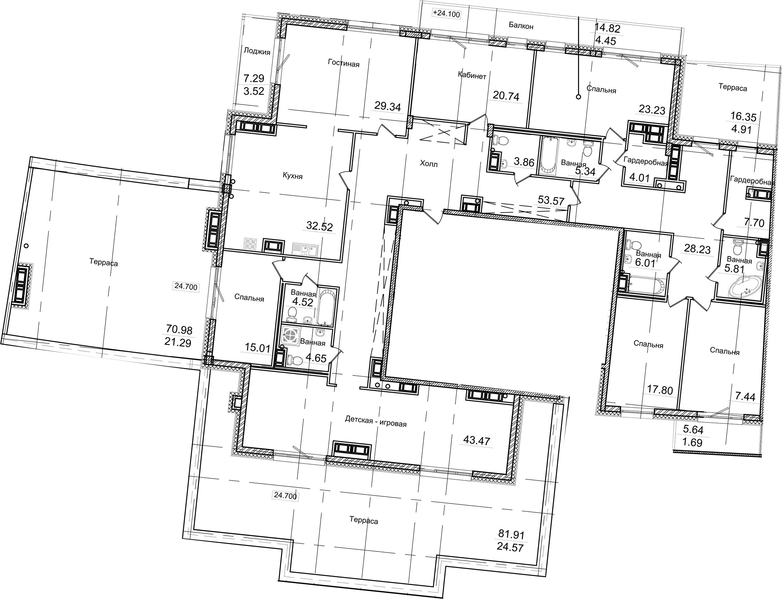 7-к.кв, 534.41 м²