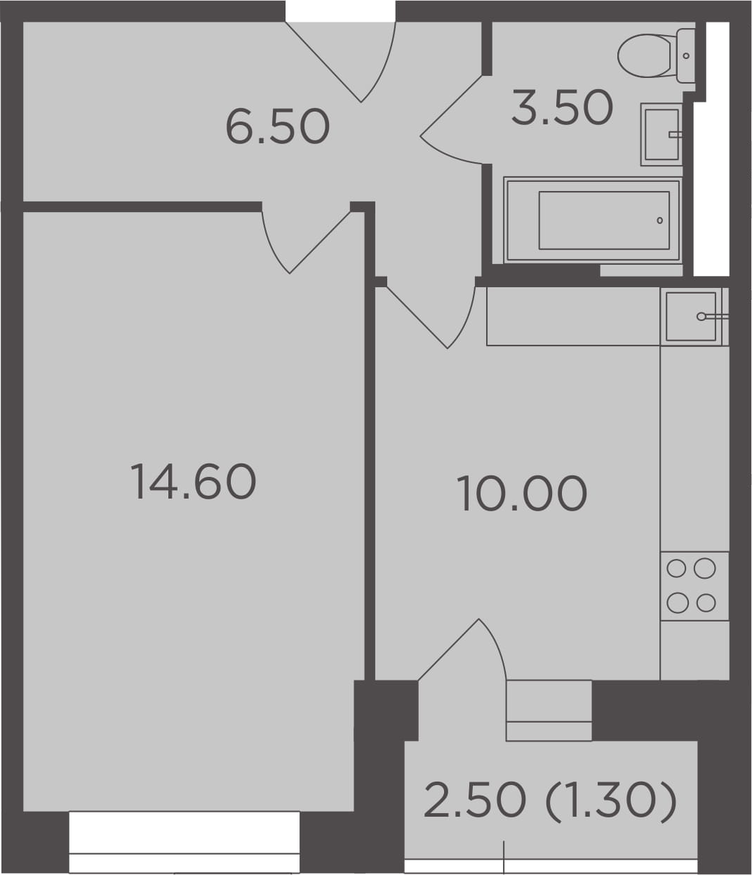 1-к.кв, 37.2 м²