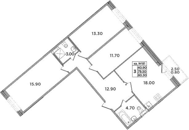 4-к.кв (евро), 82 м²