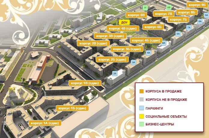 План жилого комплекса ЖК Царская Столица