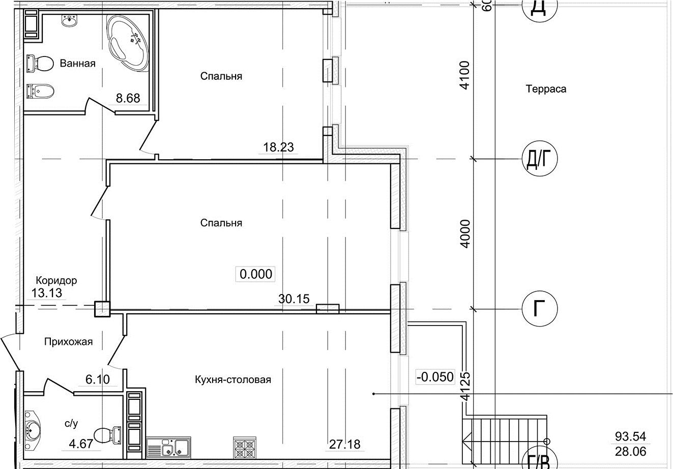 3-к.кв (евро), 196.97 м²