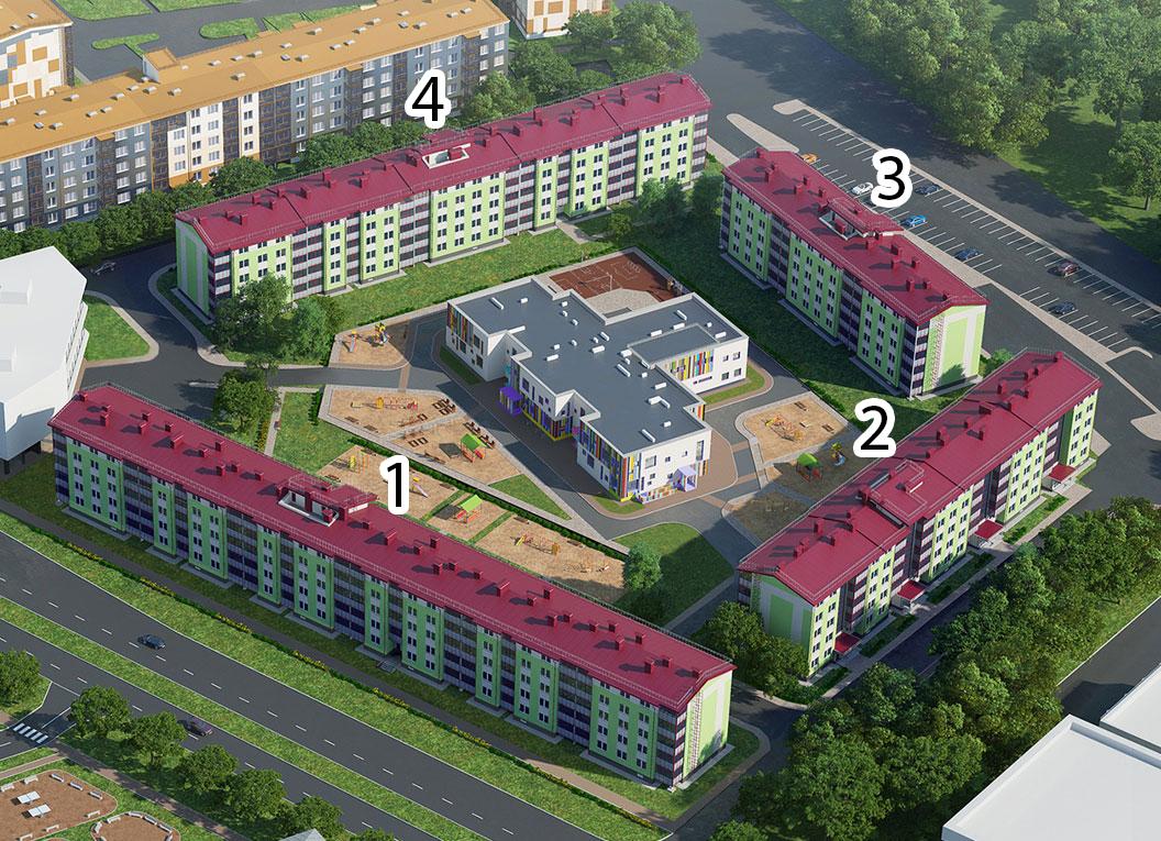 План жилого комплекса ЖК Образцовый квартал 2