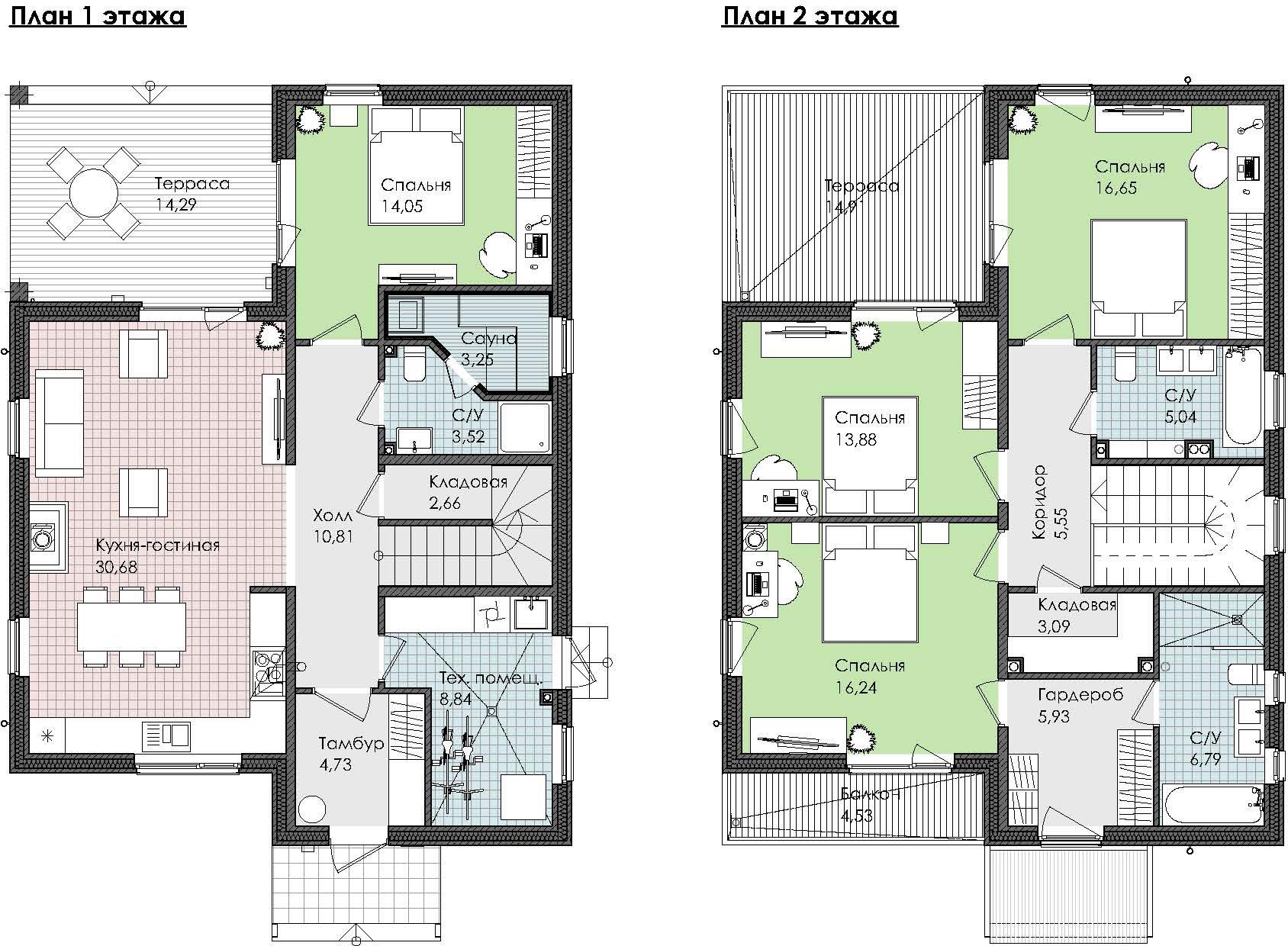 4-комнатная 196 м<sup>2</sup> на 1 этаже