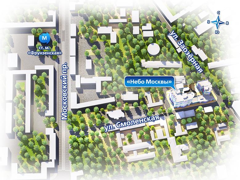 План жилого комплекса ЖК Небо Москвы